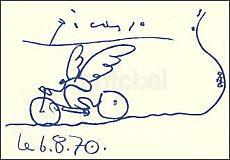 Pablo Picasso, Der Radfahrer (6.8.70)