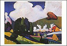 Wassily Kandinsky, Landschaft bei Murnau mit Lokomotive