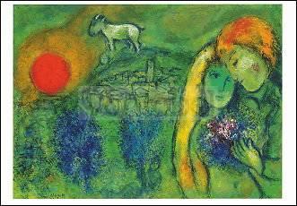 Marc Chagall, Die Liebenden von Vence