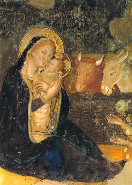 St. Klara, Assisi, Weihnachtsfresko