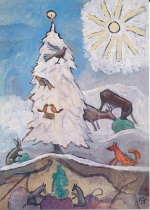 Gabriele Münter, Weihnachtsbaum der Tiere