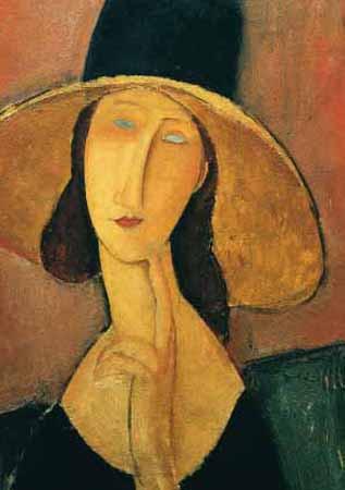 Amedeo Modigliani, Jeanne mit großem Hut, 1918