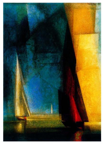 Lyonel Feininger, Stiller Tag am Meer III, 1924