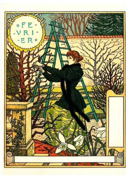 Eugène Grasset, Februar
