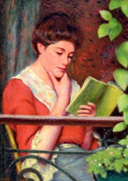 Federigo Zandomeneghi, Lesende auf dem Balkon