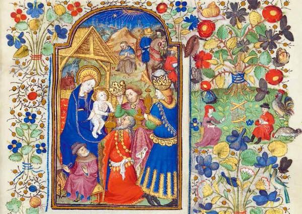 Anbetung der Könige, das Stundenbuch der Margarete von Orléans