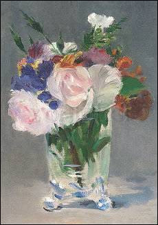 Edouard Manet, Blumen in einer Kristallvase