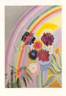 Robert Delaunay, Blumen mit Regenbogen