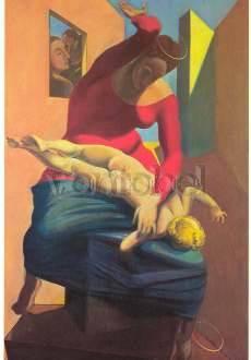 Max Ernst, Die Jungfrau haut das Jesuskind