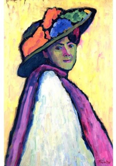 Gabriele Münter, Bildnis Marianne von Werefkin, 1909