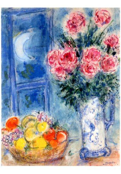 Marc Chagall, Blumenstrauß mit Früchten