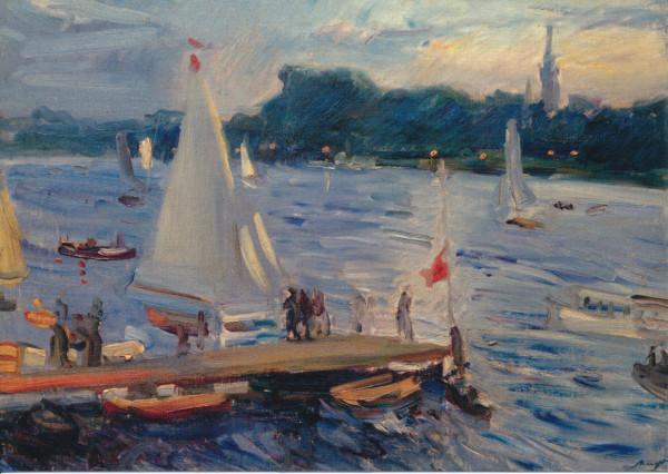 Max Slevogt, Segelboote auf der Alster