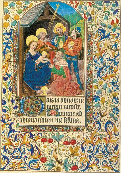 Buchmalerei, Französisches Stundenbuch 15. Jh.