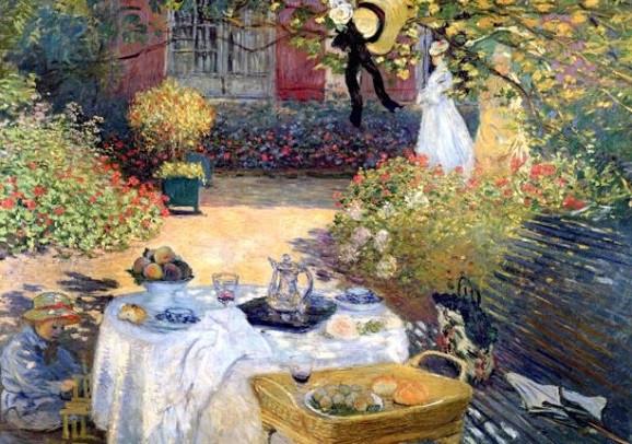 Claude Monet, Zu Tisch in Monets Garten