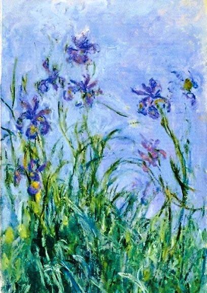 Claude Monet, Malvenfarbene Iris