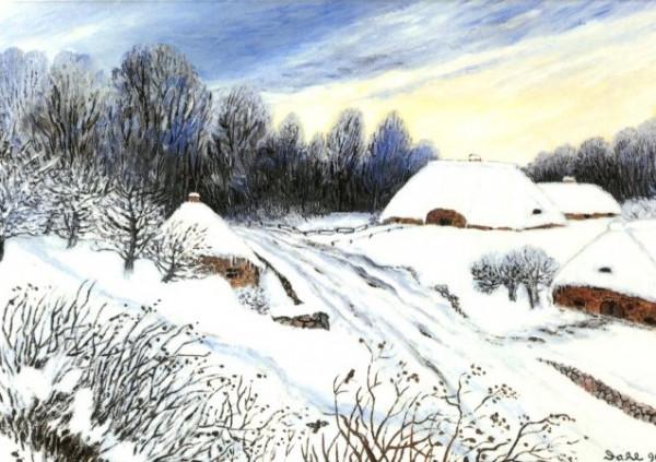 Heide Dahl, Wintermorgen