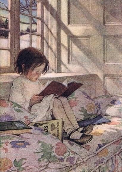 Jessie Wilcox Smith, Lesendes Mädchen