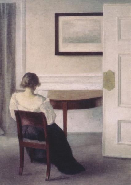 Vilhelm Hammershoi, Lesende Frau