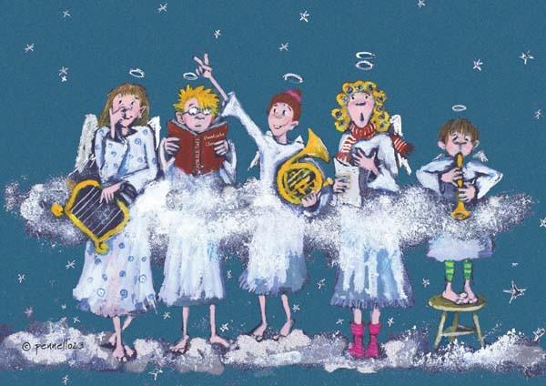 Himmlische Weihnachtsgrüße