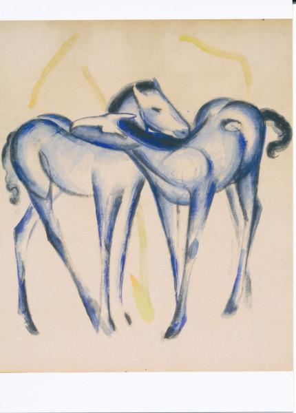Franz Marc, Zwei blaue Pferde