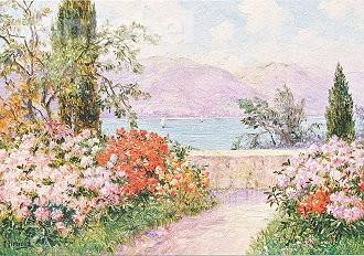 Friedrich Arnold, Der Garten der Villa Melzi am Comer See