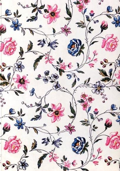 Textildesign Blumenmuster, 1771