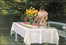 Michael Peter Ancher, Beim Decken der Tafel
