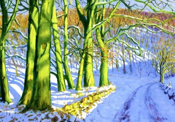 Andrew Macara, Grüne Bäume im Winter