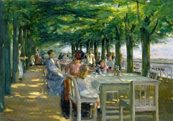 Max Liebermann, Terrasse an der Elbe