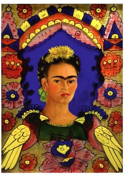 Frida Kahlo, Der Rahmen, Selbstportrait, 1938