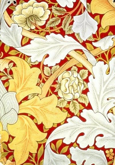 William Morris, Akanthusblätter und wilde Rosen
