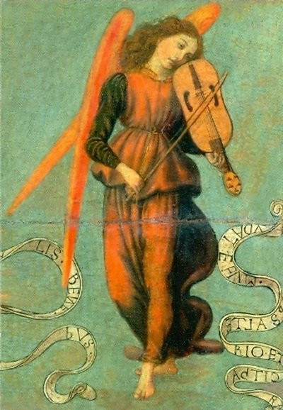 Francesco Botticini, Fiedel spielender Engel