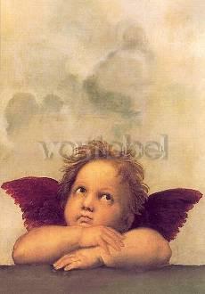 Raffael (Raffaelo Santi), Sixtinische Madonna, Ausschnitt
