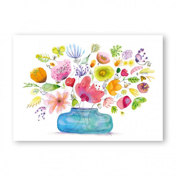 lovely blue vase