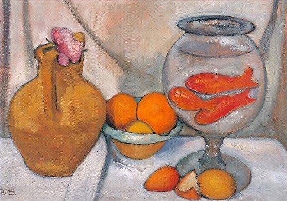 Paula Modersohn-Becker, Stilleben mit Goldfischglas