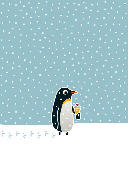 Pinguin mit Eis