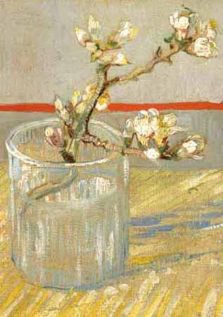 Vincent van Gogh, Blühender Mandelzweig im Glaskrug