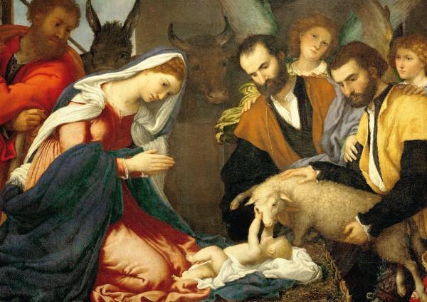 Lorenzo Lotto, Anbetung der Hirten, um 1534