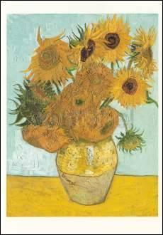 Vincent van Gogh, Vase mit Sonnenblumen