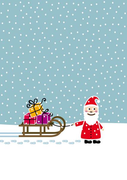 Nikolaus mit Schlitten