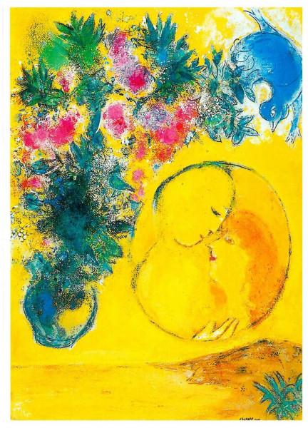Marc Chagall, Soleil et Mimosas, 1949
