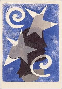 """Artikel auf Anfrage, Georges Braque, Illustration aus """"Lettera Amorosa"""" von René Char (1960)"""